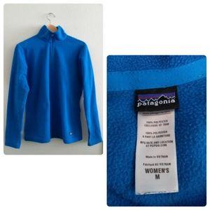Patagonia Blue Quarter Zip Fleece Pullover